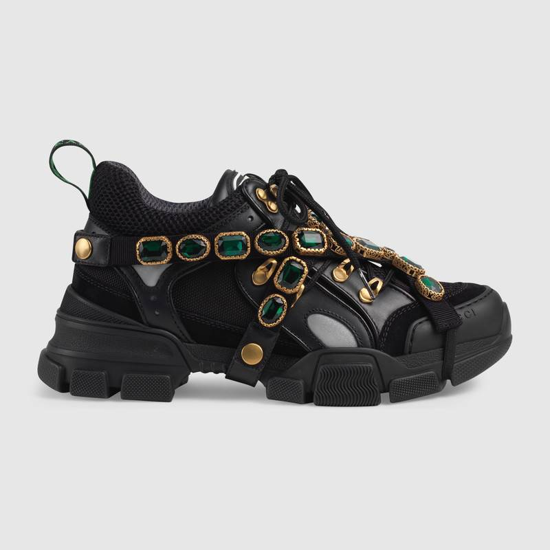 shop-gucci-flashtrek-sneaker-with-removable-crystals-black-leather