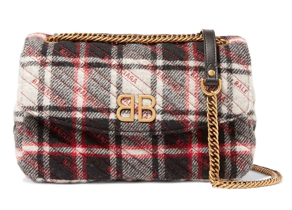 balenciaga-bb-checked-quilted-wool-shoulder-bag