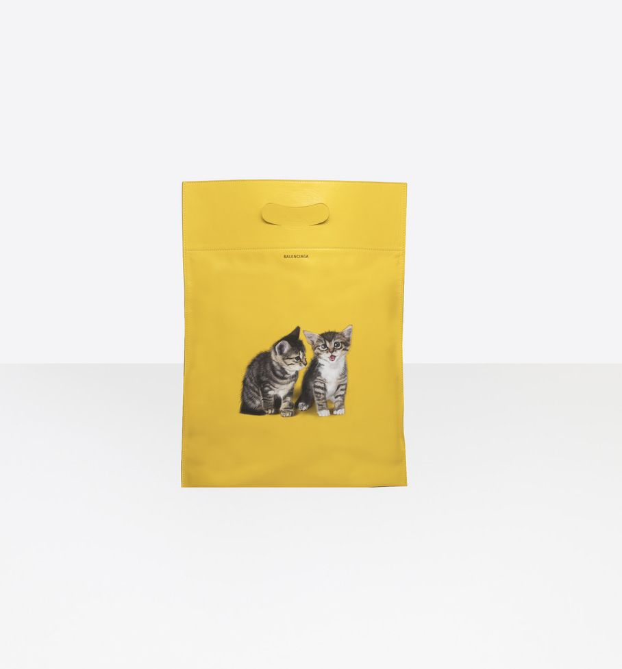 balenciaga-kitten-plastic-bag-shopper-s-yellow-calfskin