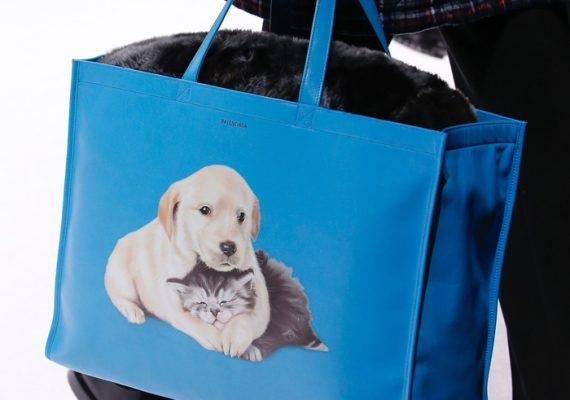 These Balenciaga puppy and kitten-printed bags are too cute to handle