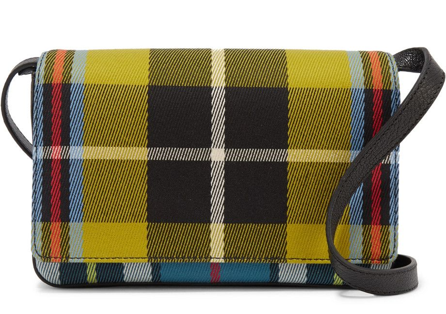 burberry-checked-twill-and-textured-leather-shoulder-bag