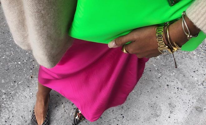 97ac360a5aaf Cool girls are rocking the fluorescent trend with this Prada neon nylon bag