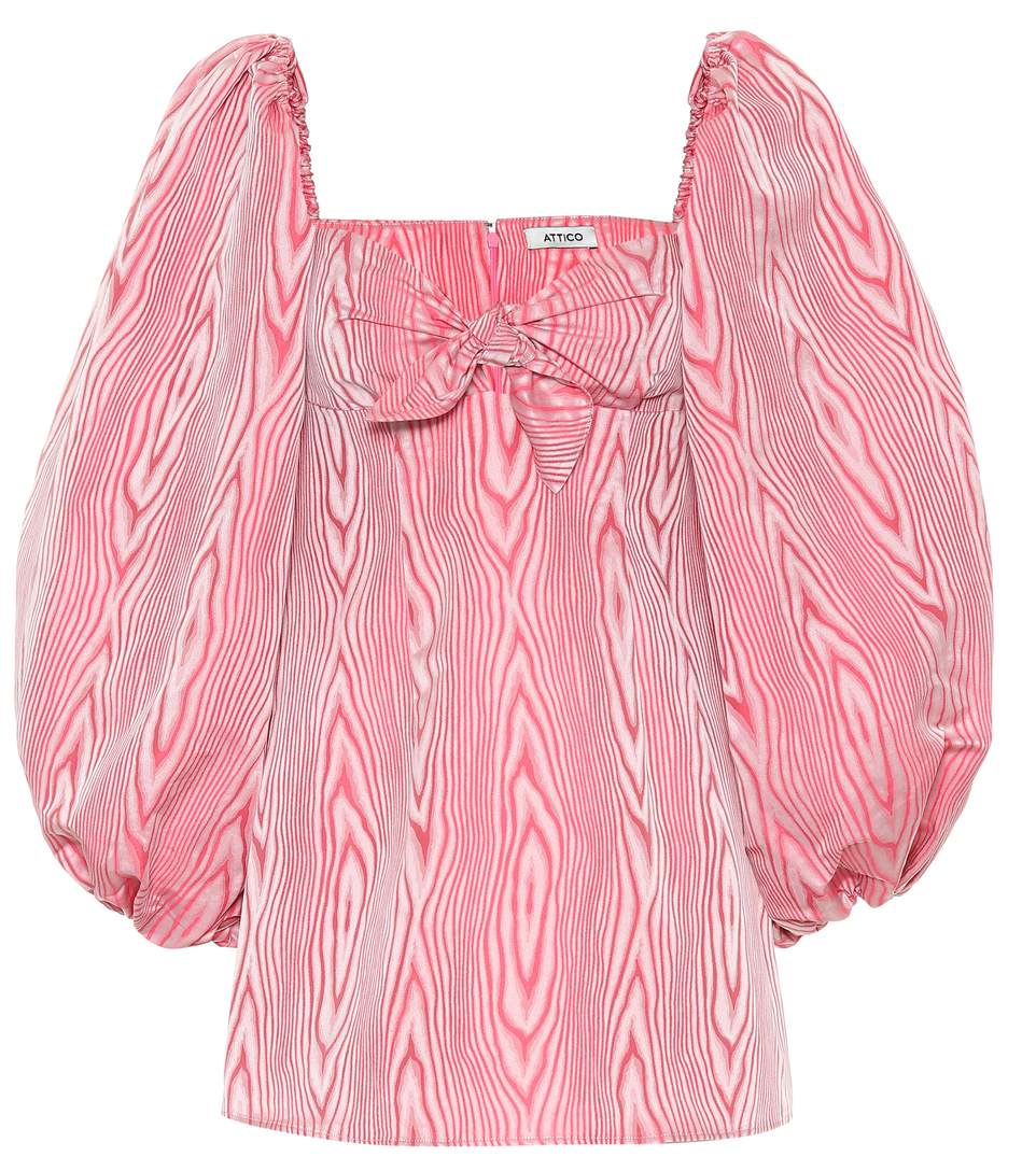shop-attico-pink-moire-mini-dress