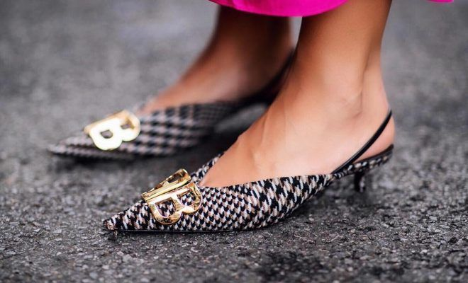 88fb3fca7f5 The Balenciaga BB Prince of Wales slingback pumps are style girls  must!