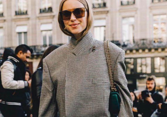 How to wear a blazer as a dress (before it's too cold)