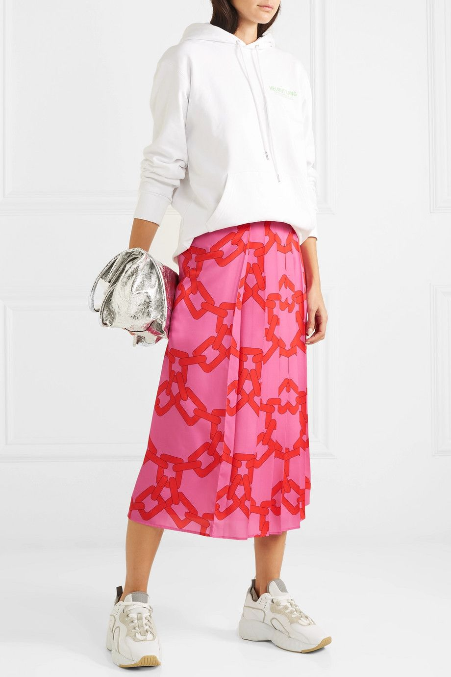 msgm-pleated-printed-red-pink-midi-skirt