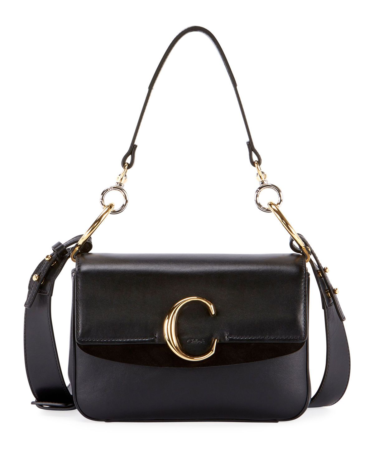 shop-chloe-c-black-shiny-leather-small-shoulder-bag