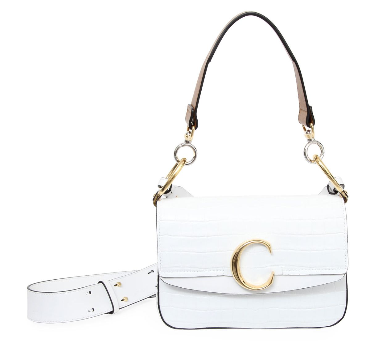 shop-chloe-c-white-croc-embossed-leather-shoulder-bag