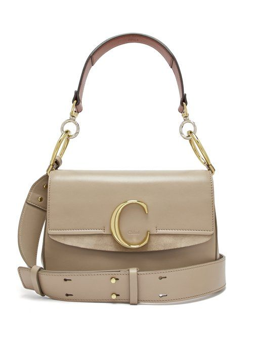 shop-chloe-monogram-grey-leather-shoulder-bag