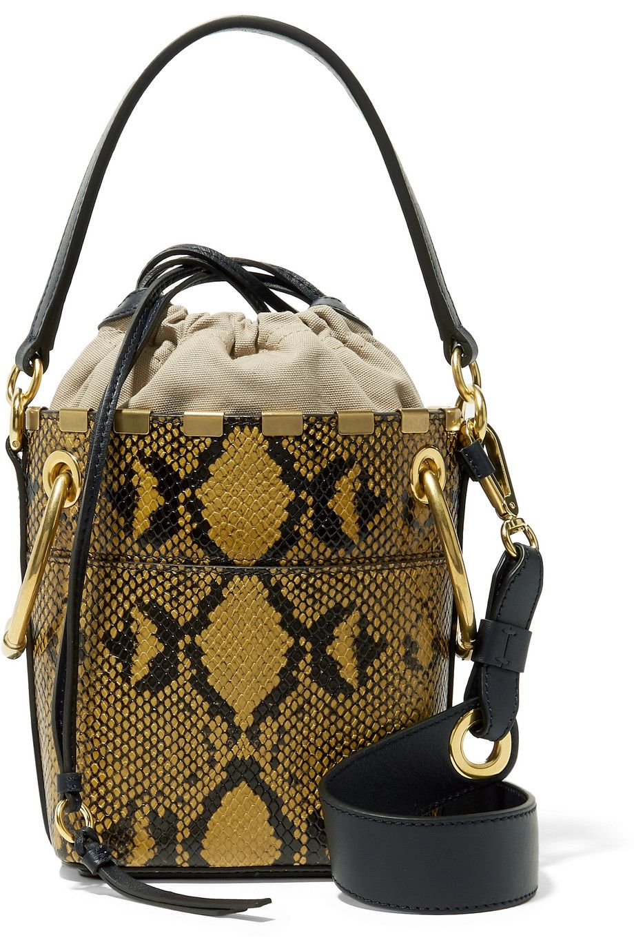 shop-chloe-roy-mini-snake-effect-leather-bucket-bag