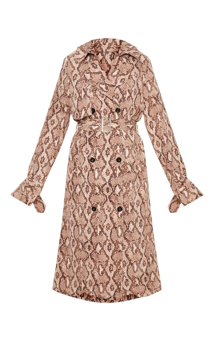 shop-prettylittlething-snake-print-trench-coat