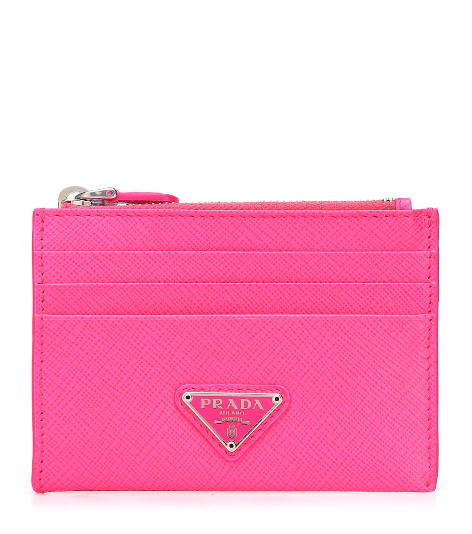 prada-fluor-pink-leather-wallet