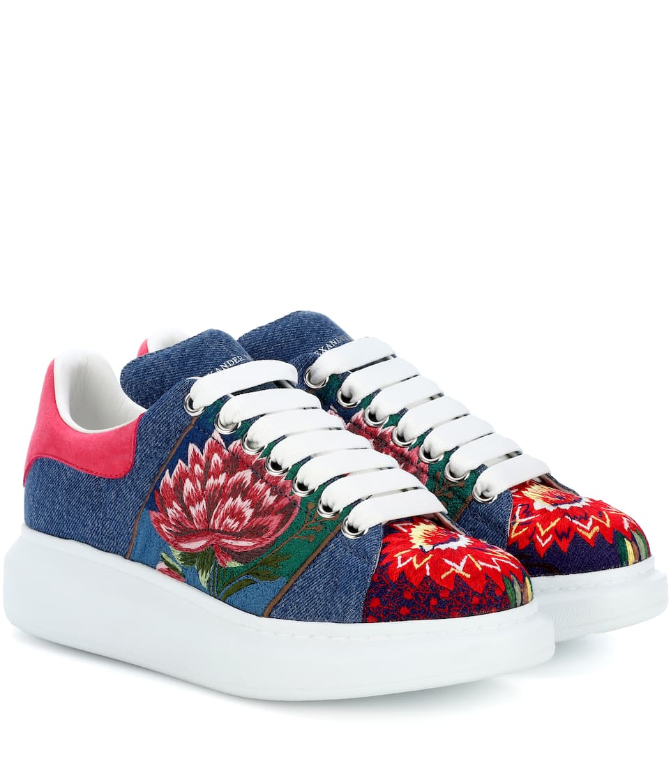 shop-alexander-mcqueen-denim-embroidered-platform-sneakers