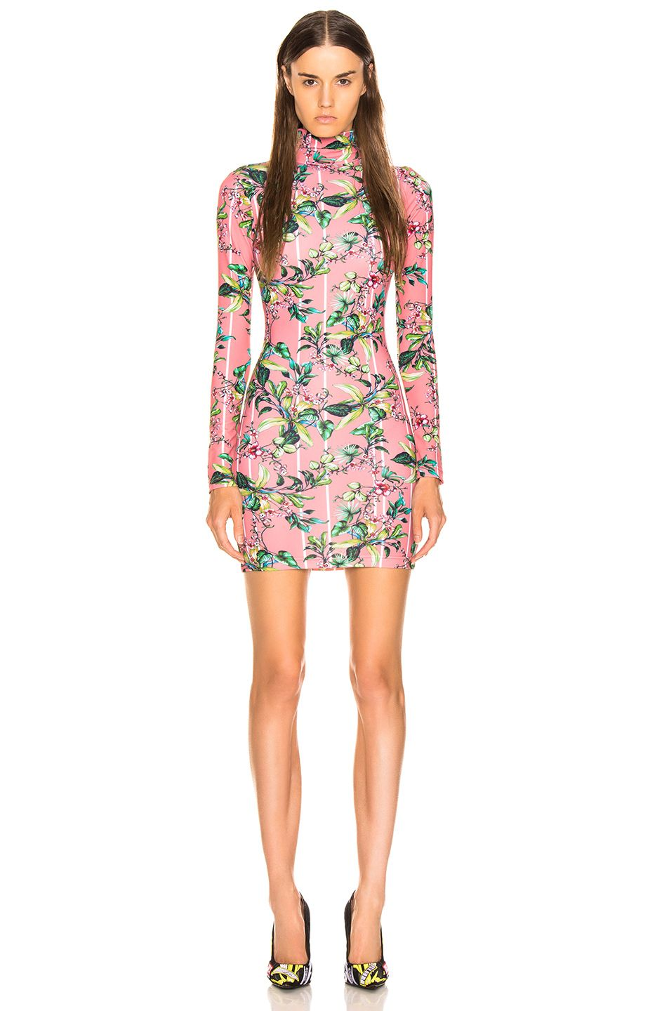 shop-vetements-pink-flowers-long-sleeved-body-dress