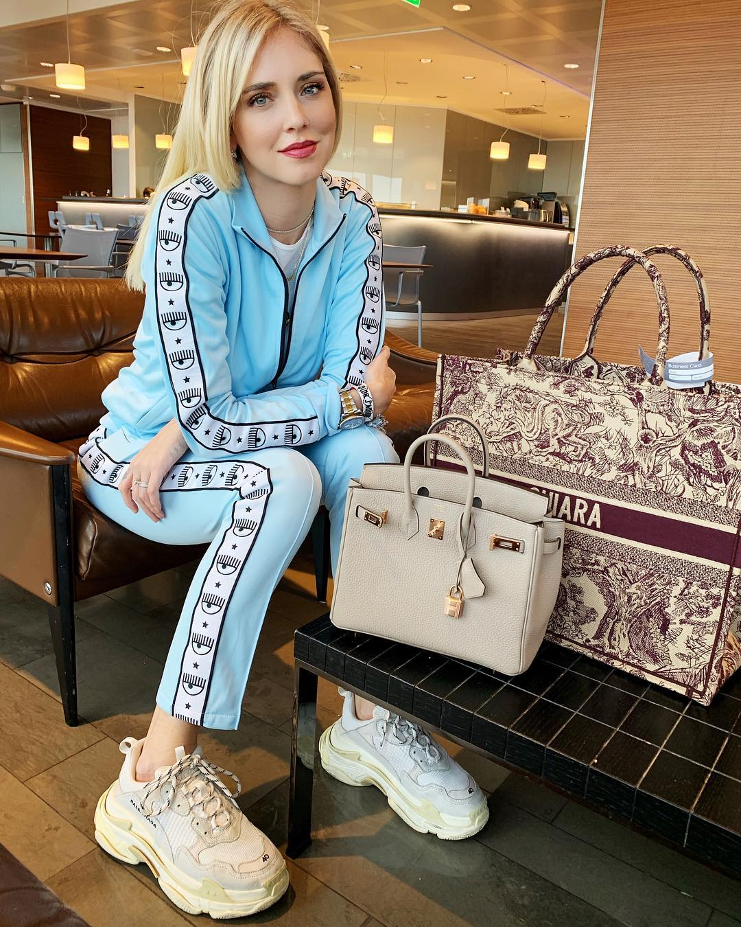 chiara-ferragni-light-blue-tracksuit