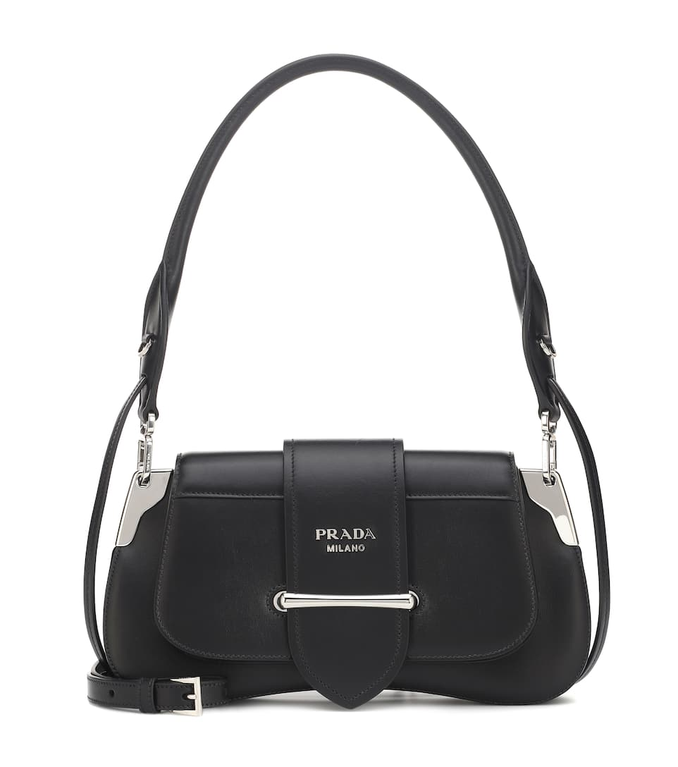 prada-sidonie-black-calf-leather-shoulder-bag