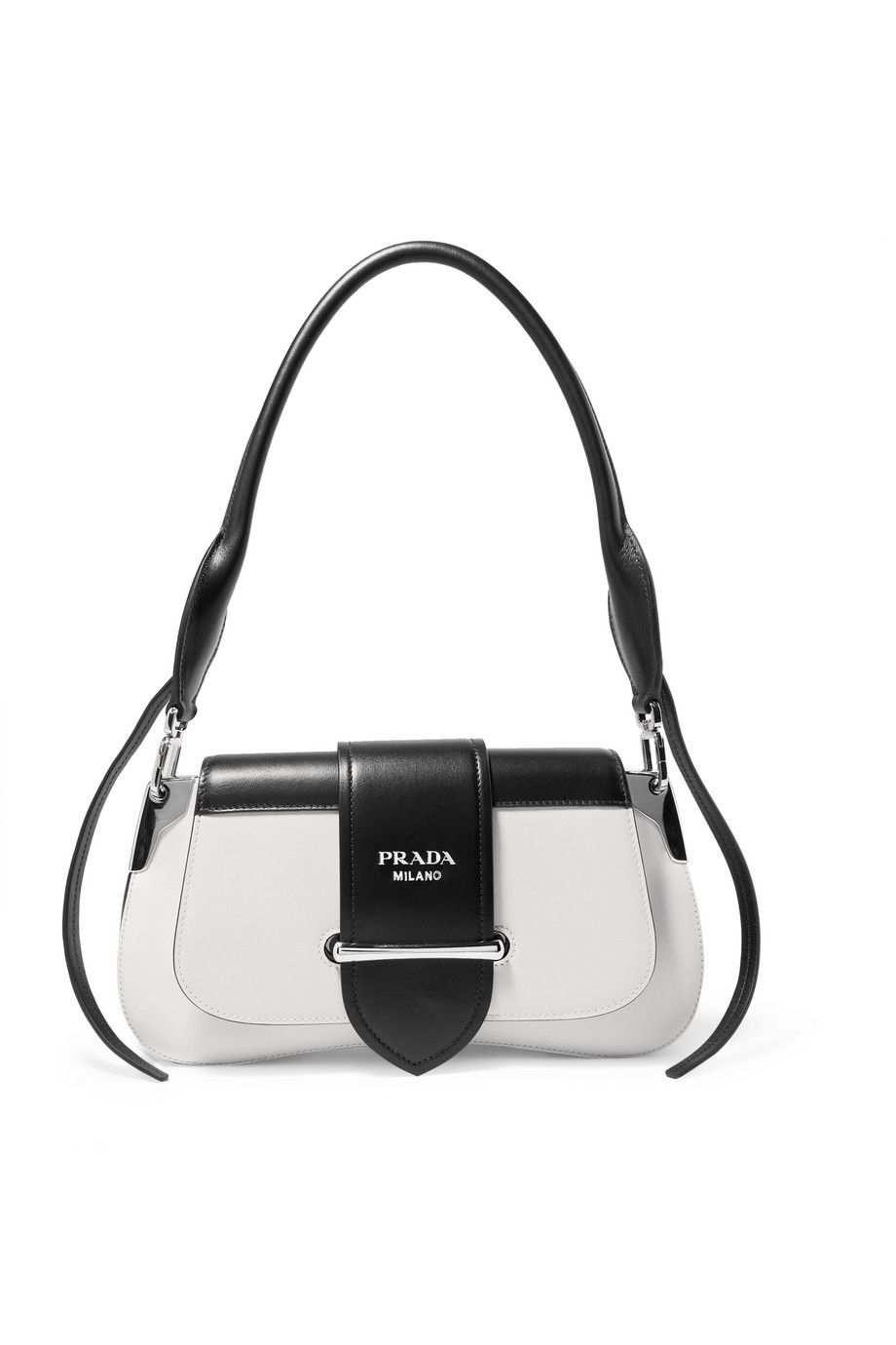 shop-prada-sidonie-white-black-leather-shoulder-bag