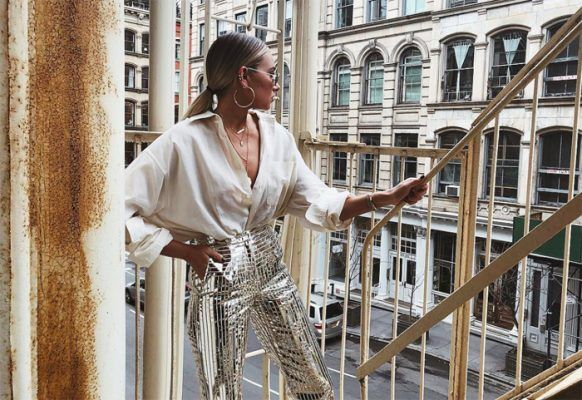 Now craving: silver metallic pants