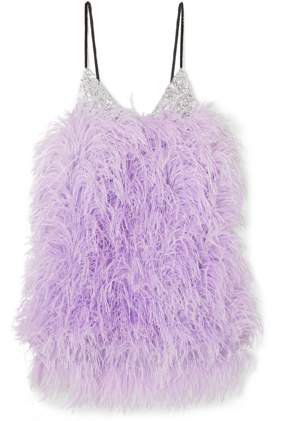 attico-lilac-feather-embellished-silver-sequined-tulle-mini-dress-spring-2019