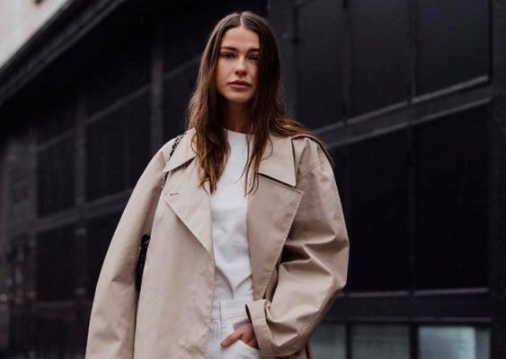 This twisted trench coat is cool girls' latest obsession