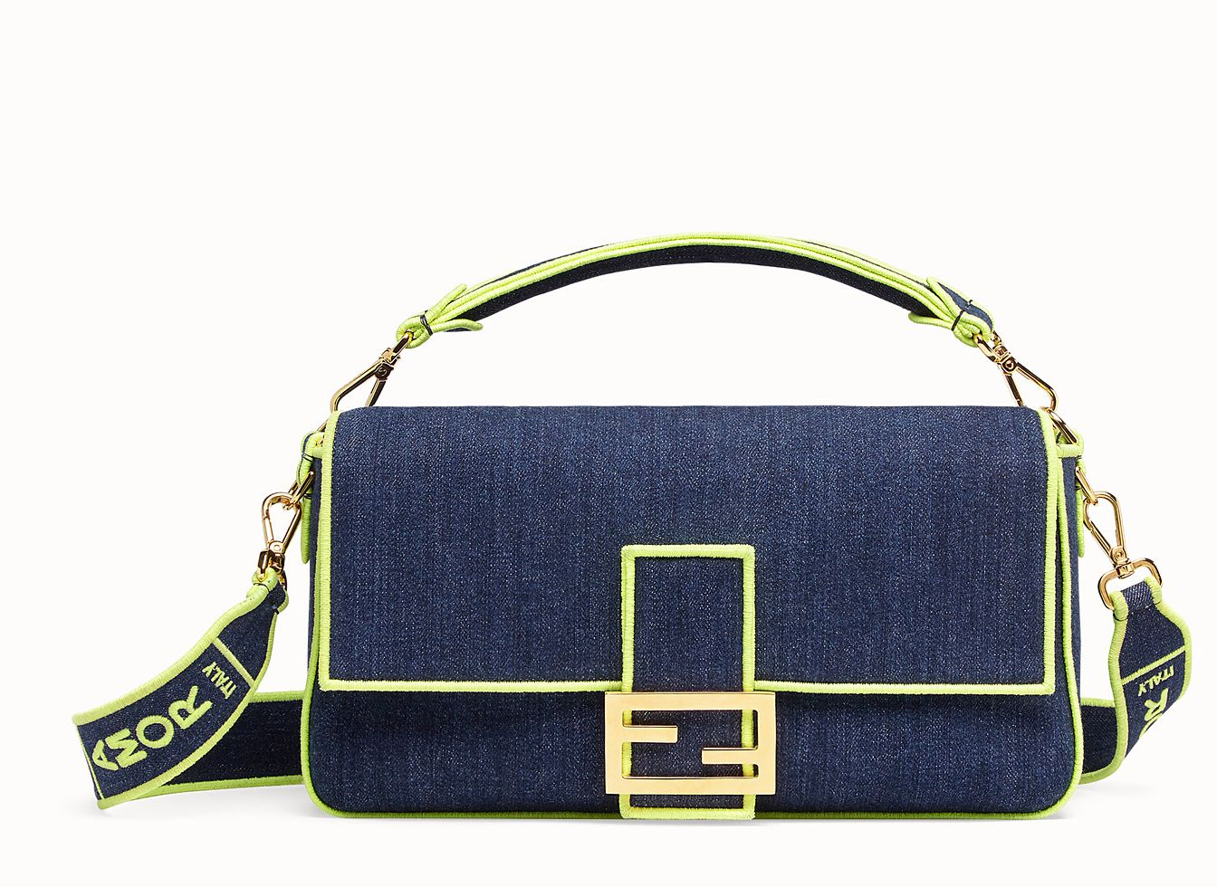 fendi-baguette-large-blue-denim-fluorescent-yellow-edges