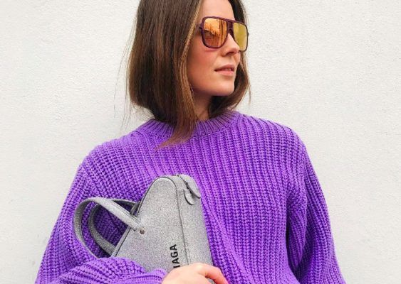 How to wear lilac (or is it purple?) in winter, according to Scandi girls