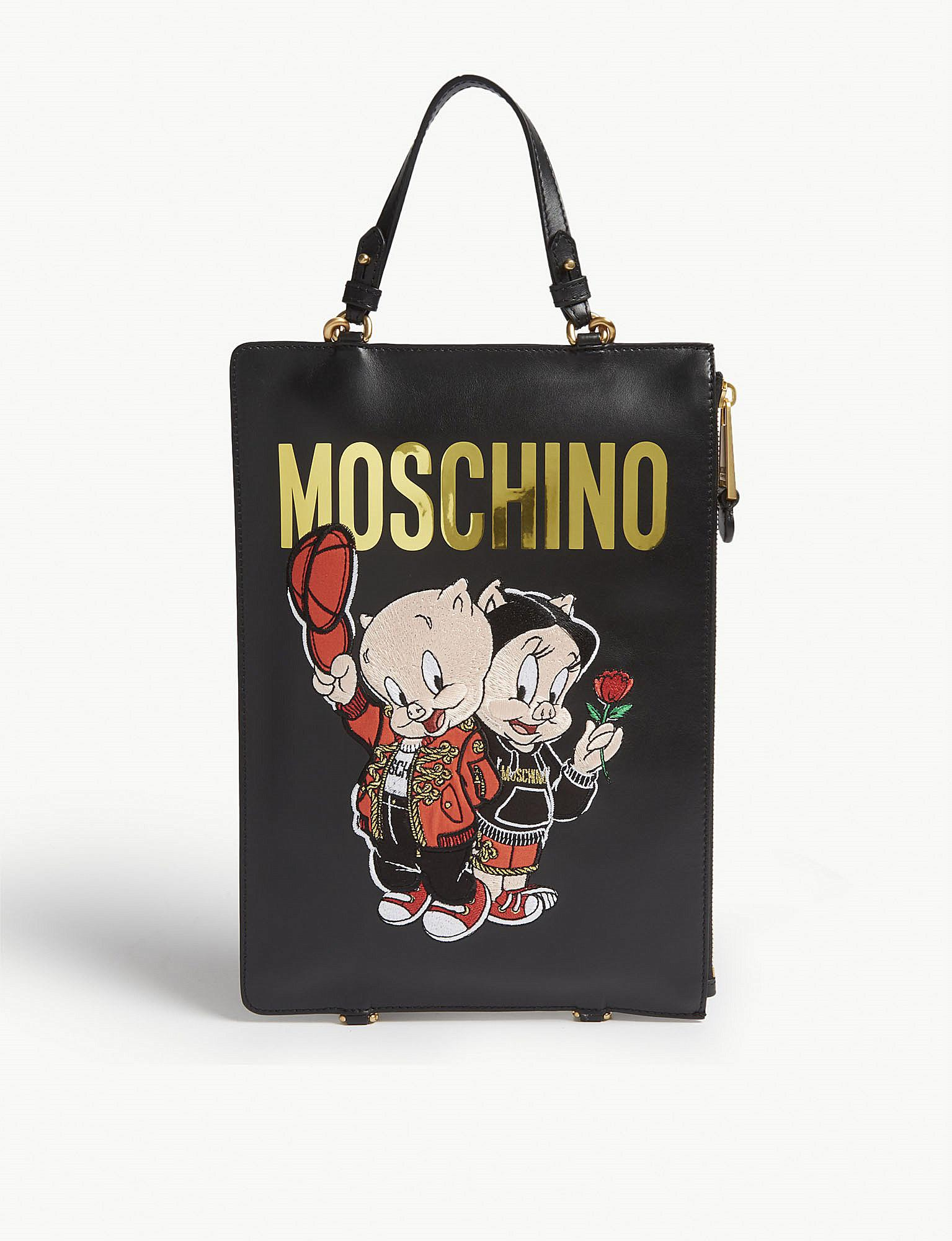 moschino-porky-pig-backpack-black-leather