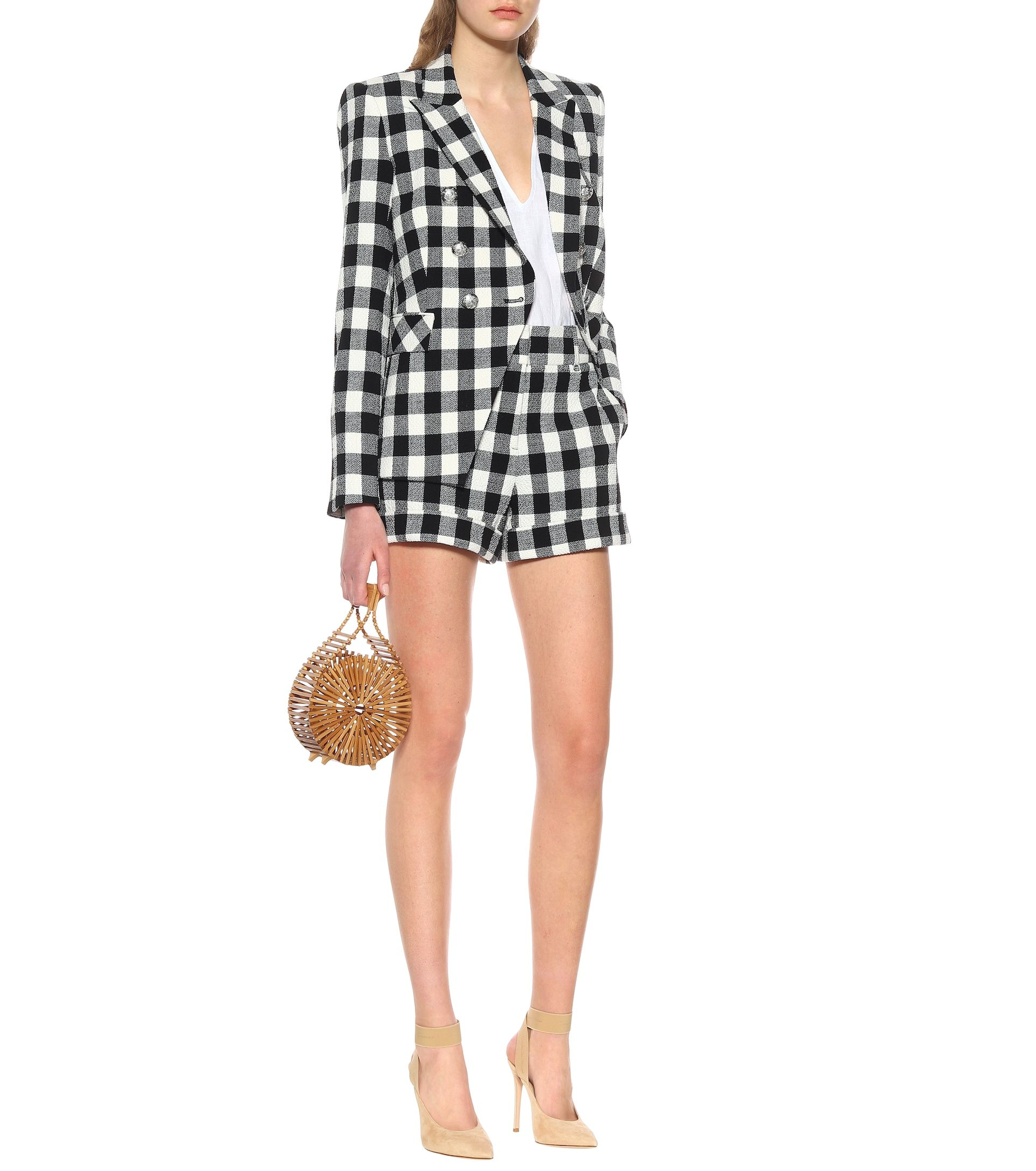 veronica-beard-linen-blend-checked-short-suit