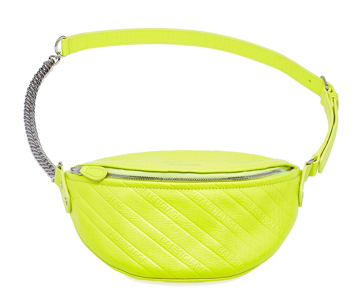 balenciaga-souvenir-xxs-acid-green-leather-fanny-pack