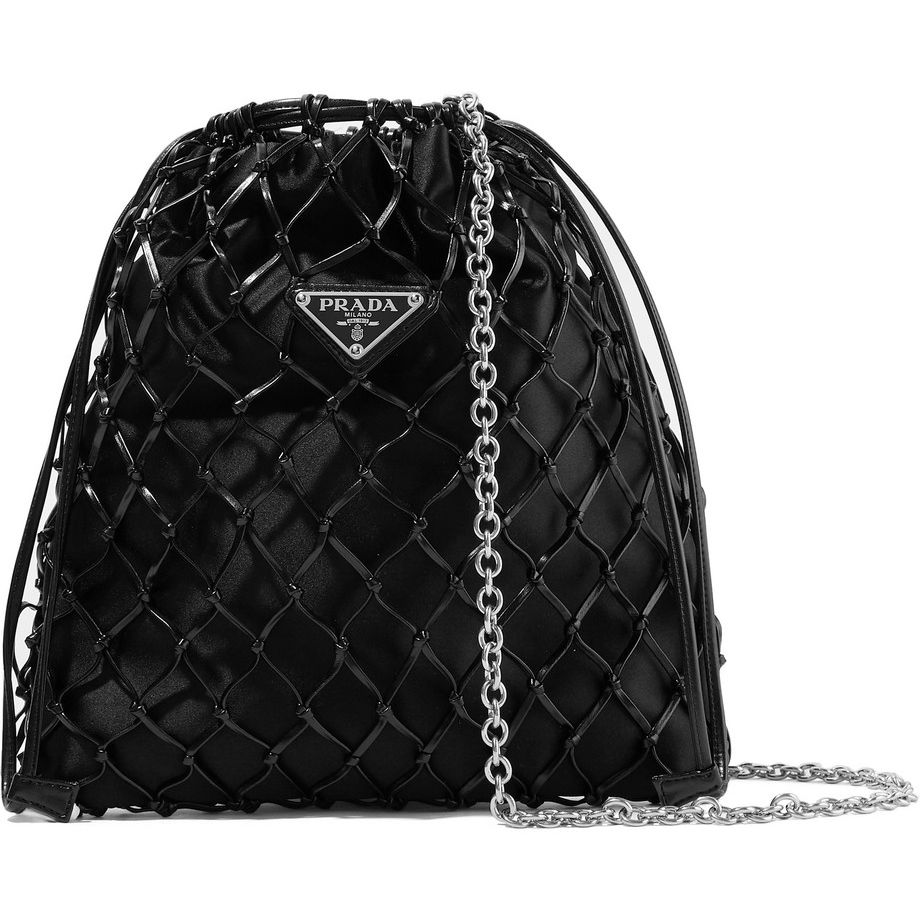 prada-macrame-leather-satin-bucket-bag-black
