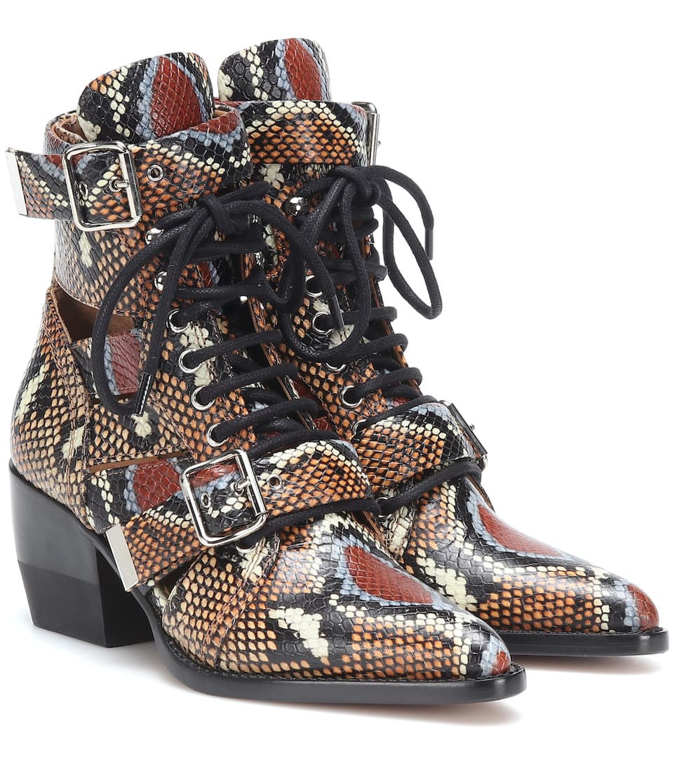 shop-chloe-snake-embossed-leather-ankle-boots