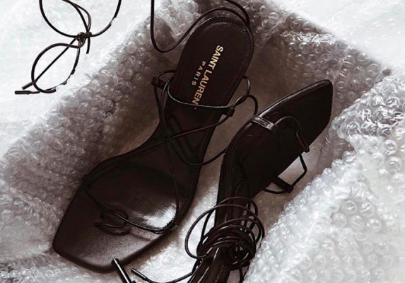 Strappy sandals are the only shoes you'll be wearing this spring