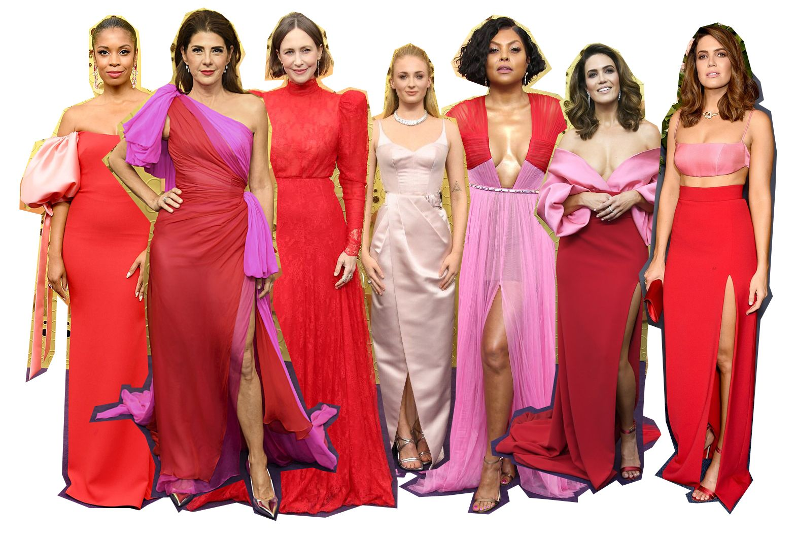 2019-emmy-awards-red-carpet-pink-red-trend-celebrities