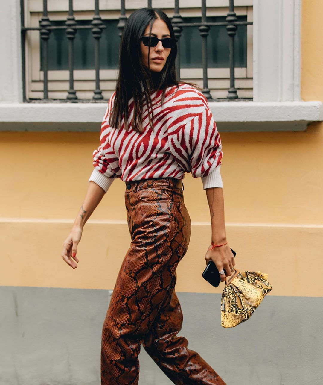 gilda-ambrosio-attico-snake-effect-leather-pants