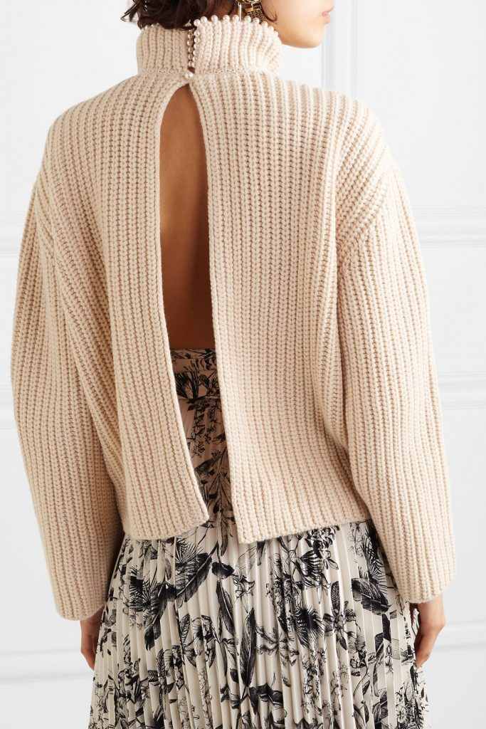 loewe-faux-pearl-embellished-open-back-cashmere-sweater