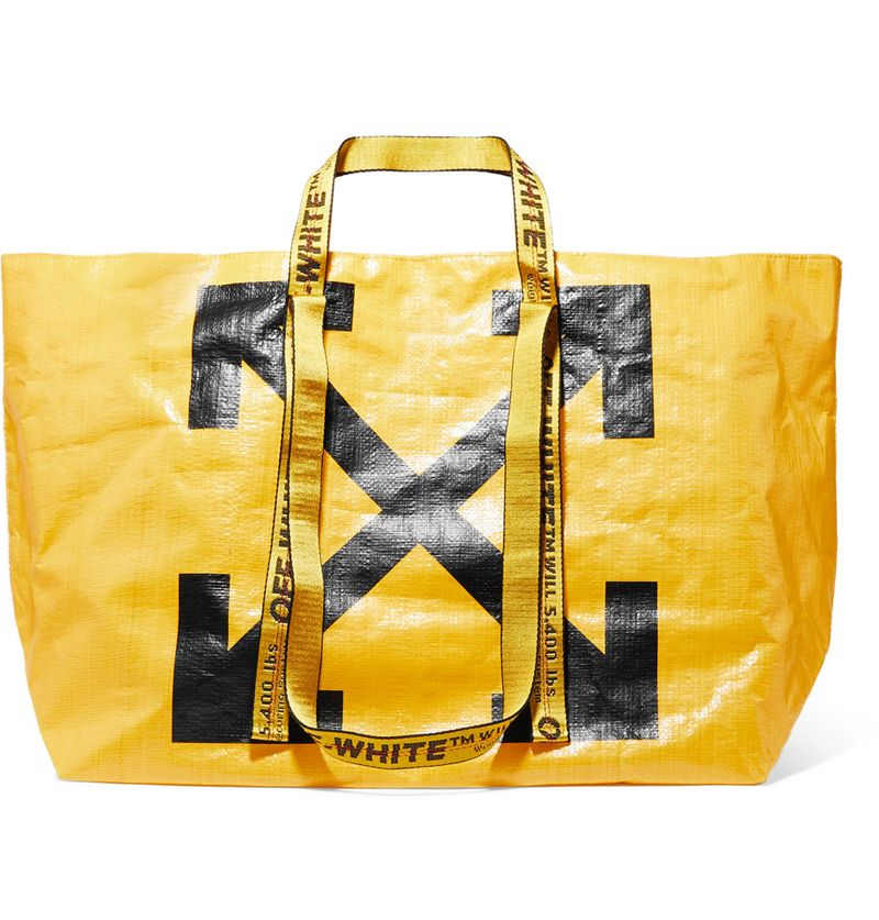 off-white-Commercial-printed-PVC-tote-yellow-black