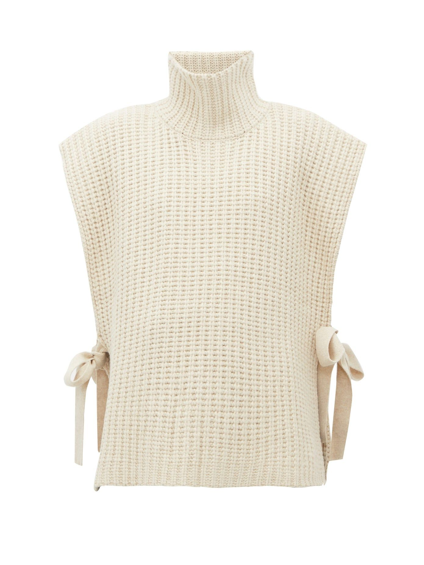 see-by-chloe-side-tie-ribbed-high-neck-sweater
