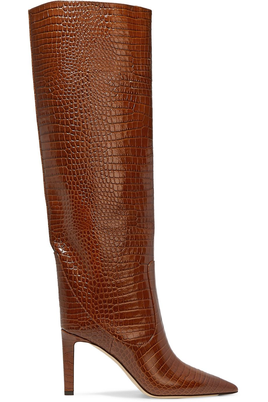shop-mavis-85-tan-croc-effect-leather-knee-boots