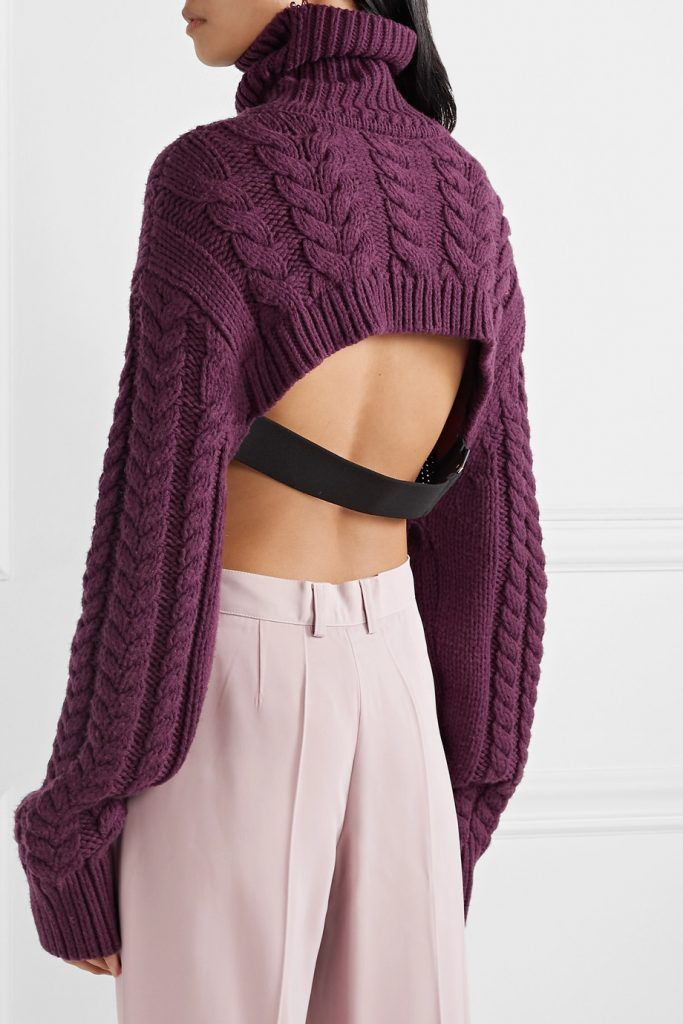 tibi-open-back-cable-knit-sweater