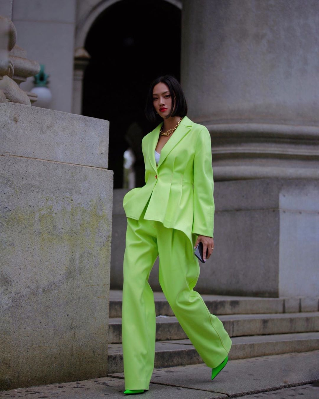 tiffany-hsu-sies-marjan-neon-green-suit-new-york