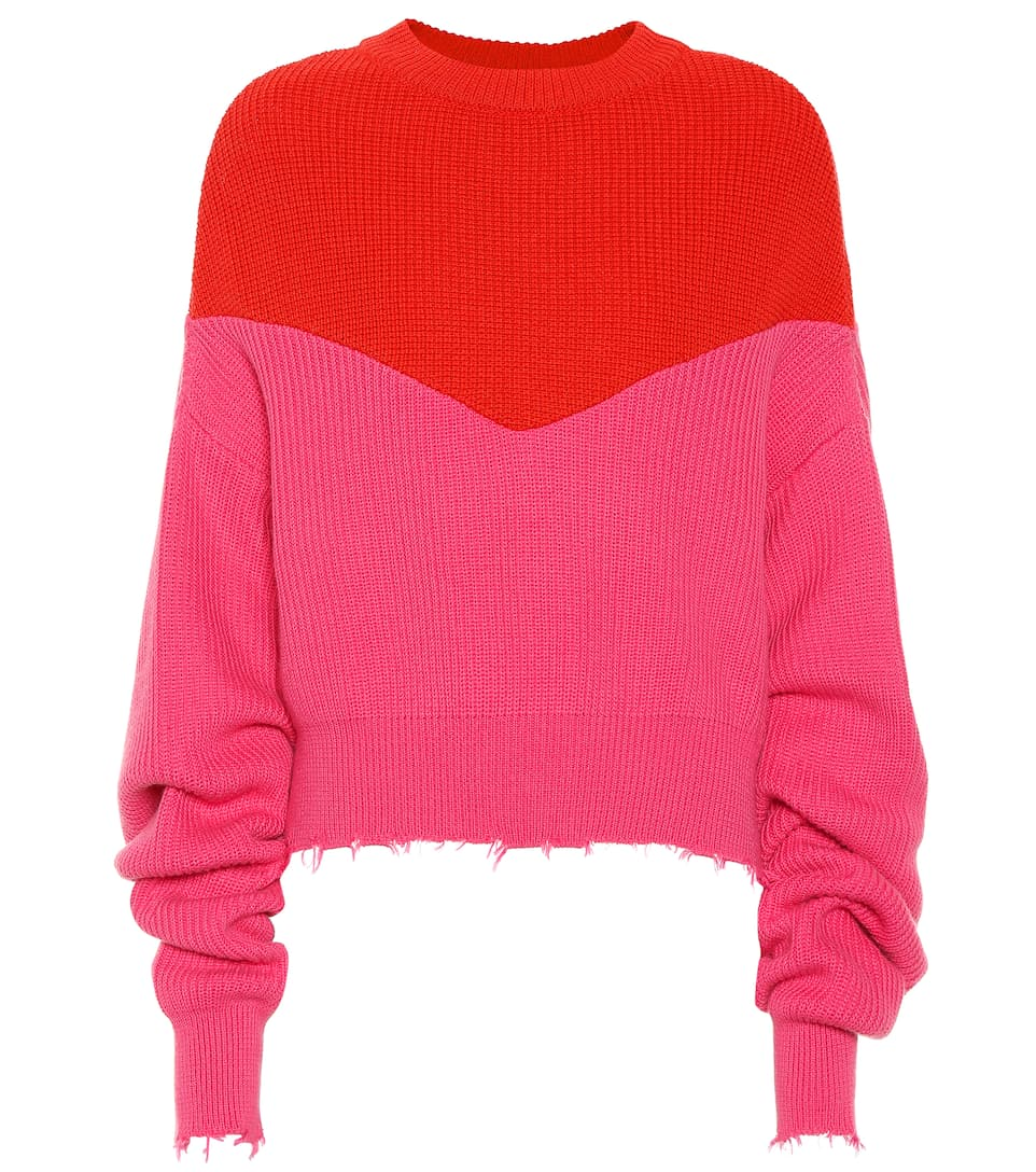 unravel-red-fuchsia-cotton-cashmere-sweater
