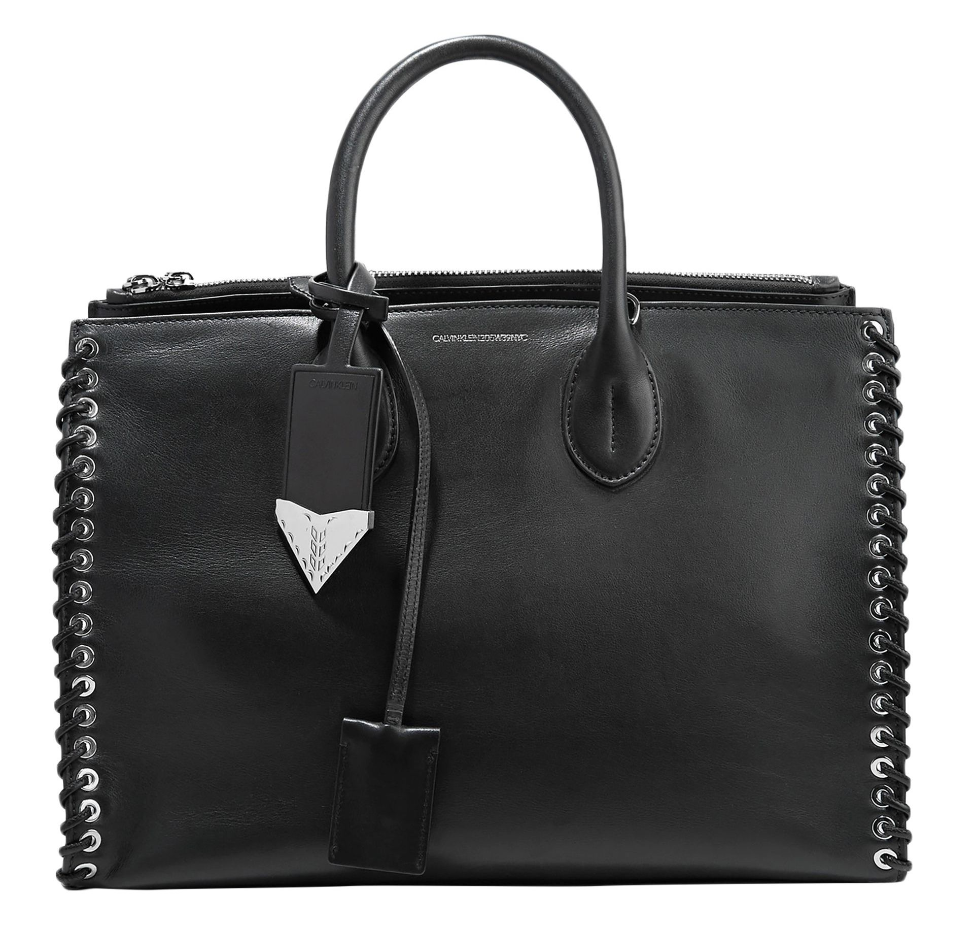 CALVIN-KLEIN-205W39NYC-whipstitched-black-leather-tote-the-outnet-sale