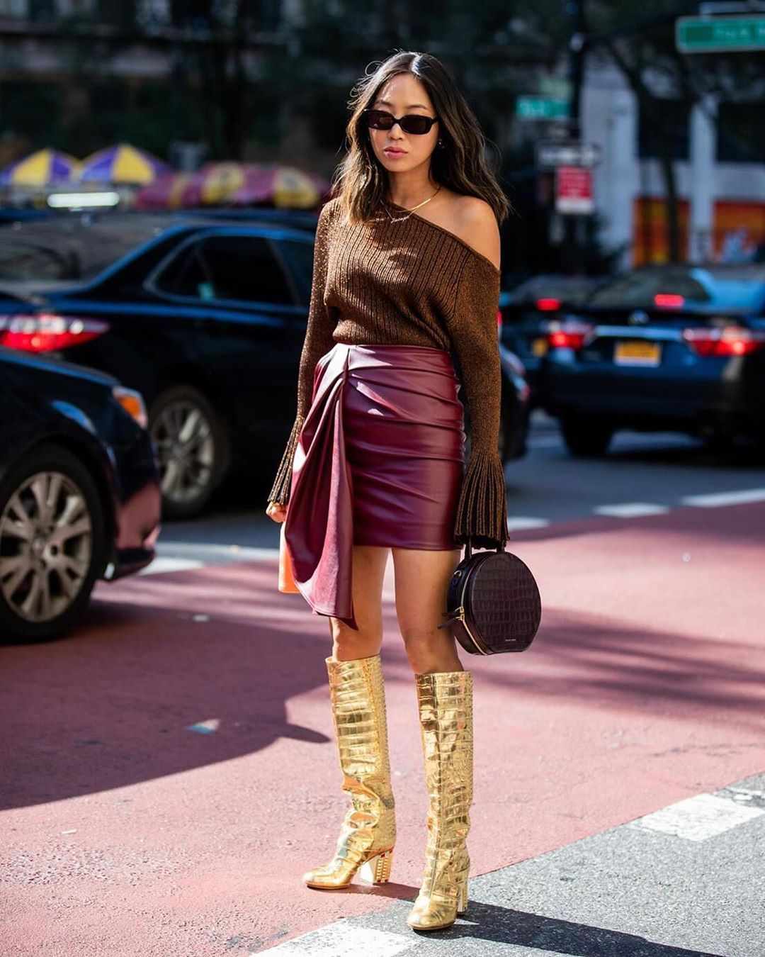 aimee-song-chanel-croc-effect-metallic-gold-knee-boots-new-york-street-style