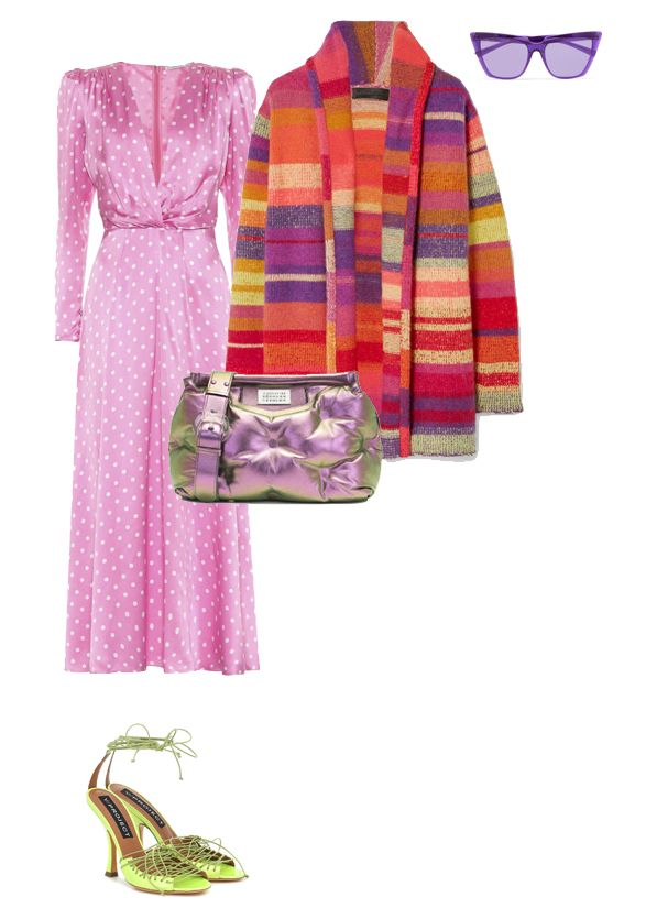 alessandra-rich-pink-polka-dot-midi-dress-outfit-inspiration