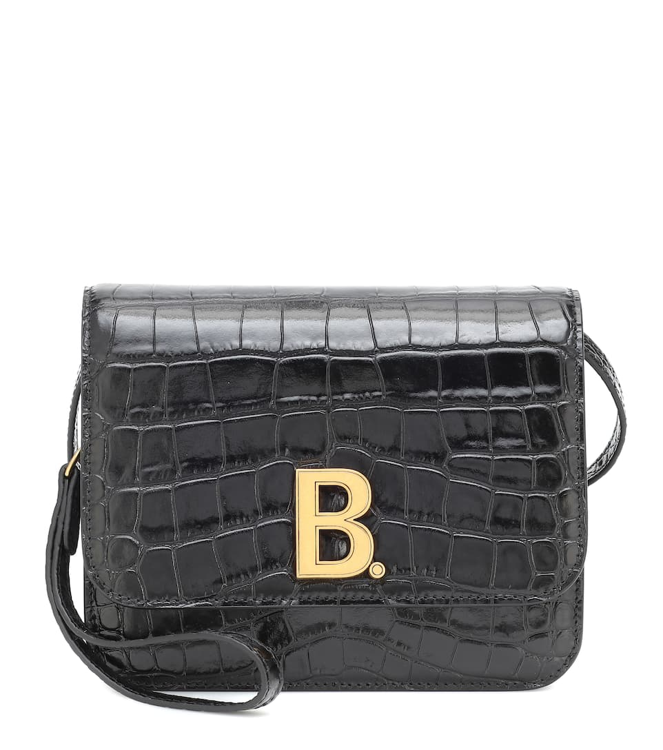 balenciaga-b-small-croc-effect-leather-shoulder-bag