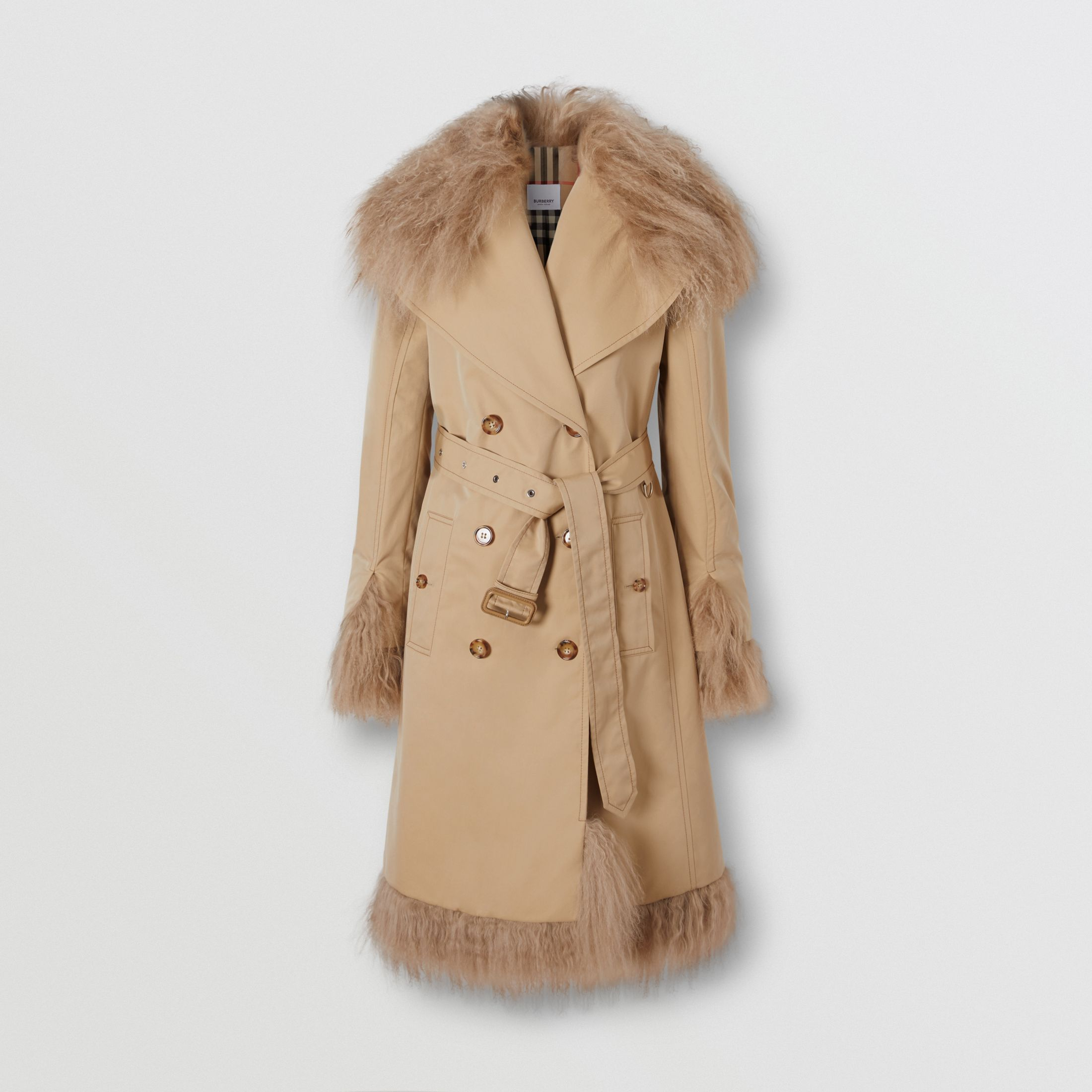 burberry-shearling-trim-cotton-gabardine-belt-trench-coat