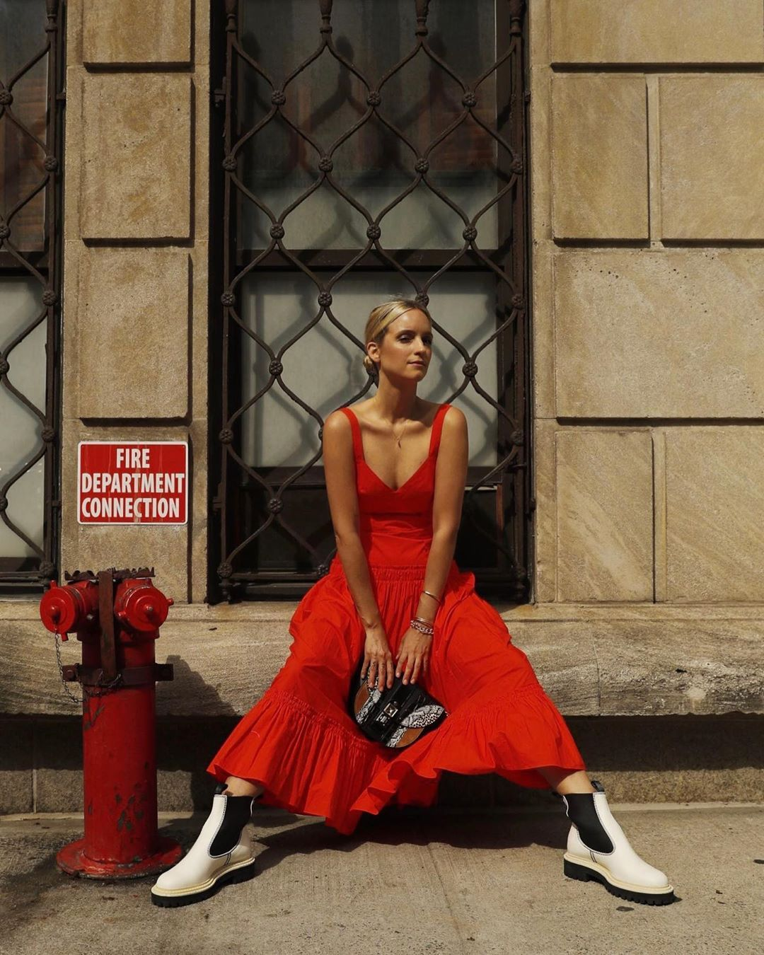 charlotte-groeneveld-proenza-schouler-red-dress-fall-2019