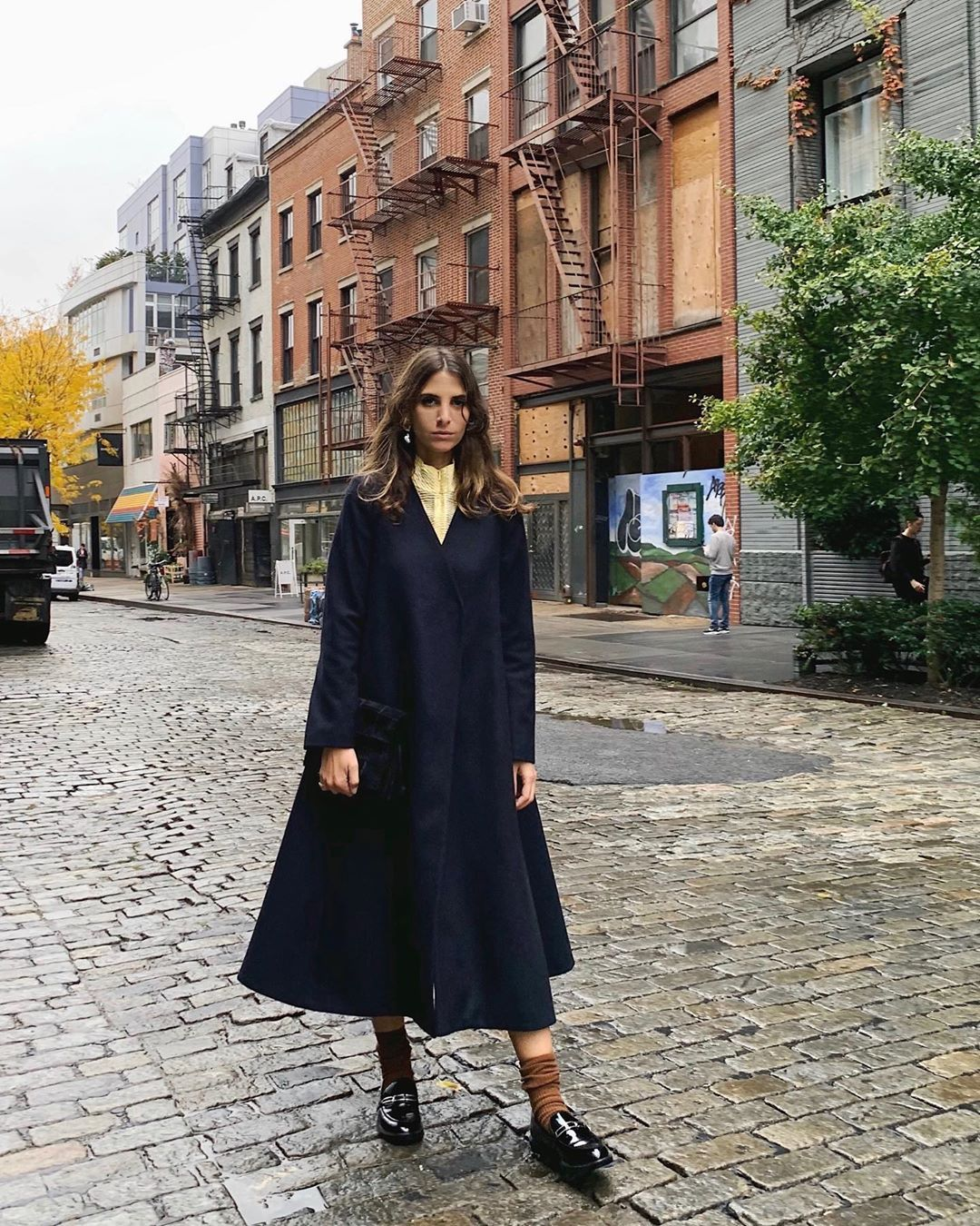 leandra-x-mango-recycled-navy-wool-oversized-coat-jen-wonders-instagram