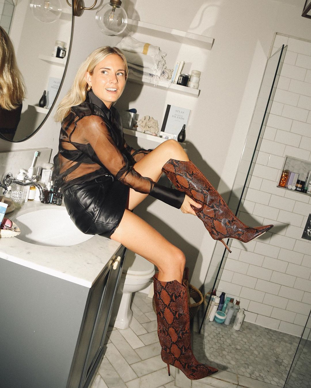 lucy-williams-jimmy-choo-brelan-85-snake-effect-boots-instagram