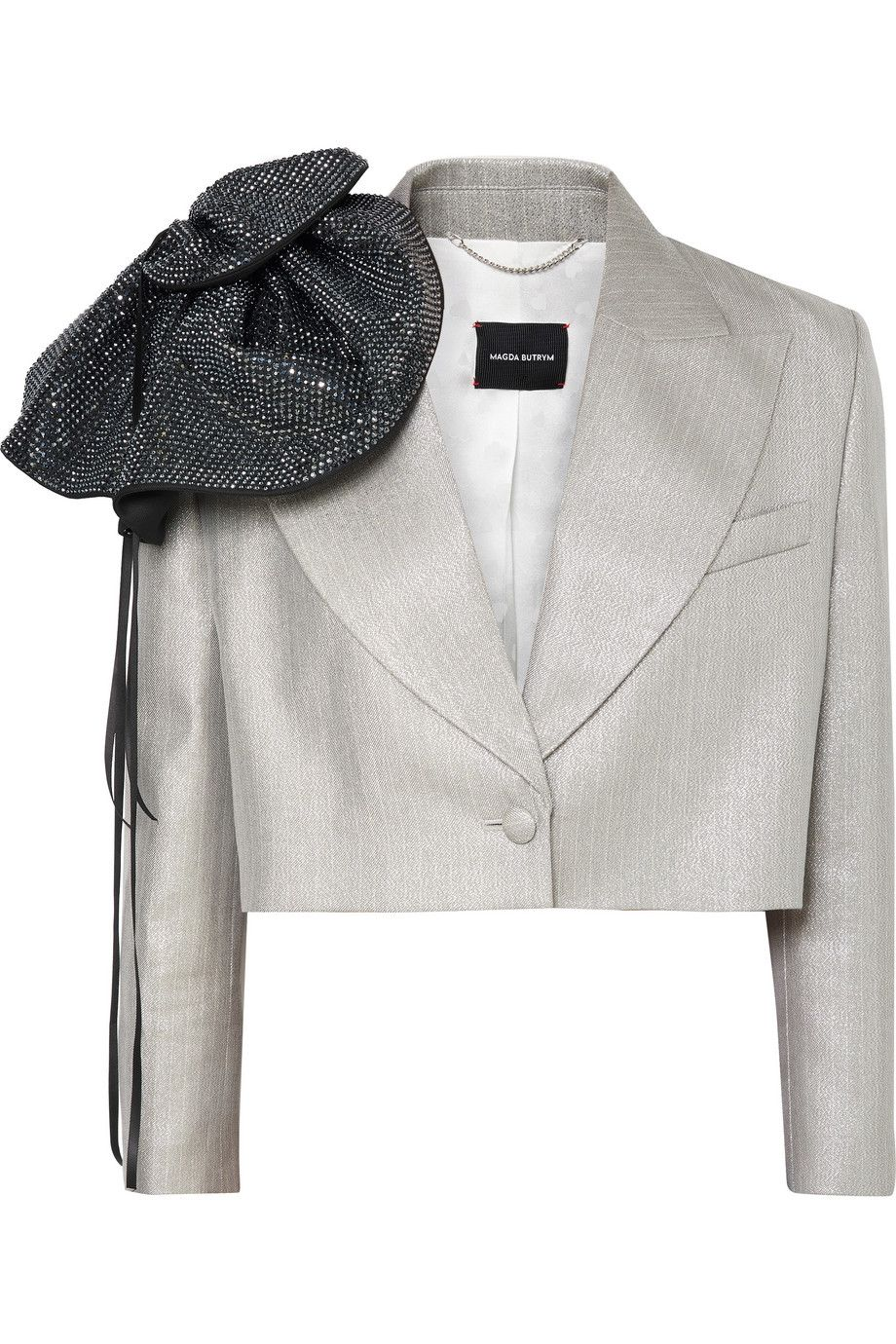 magda-butrym-cropped-crystal-embellished-metallic-wool-blend-blazer